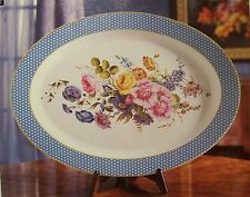 """1994 Franklin Mint Porcelain Charger 16"""" X 12"""" Tuscany French Country English"""