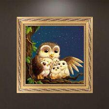 DIY Owl Family 5D Diamond Embroidery Rhinestone Painting Cross Stitch Decor