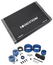 SOUNDSTREAM AR4.1200 Arachnid 1200 Watt 4-Channel Car Audio Amplifier+Amp Kit
