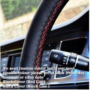 UK Luxury Cowhide Leather Car Truck Steering Wheel Cover + Thread + Needles Hot