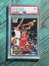 MICHAEL JORDAN Chicago Bulls HOF 1992 Upper Deck All-Division Team #AD9 PSA 9