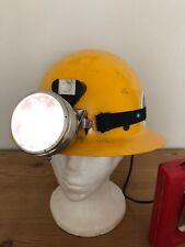 New listing Vintage Msa Miners Hard Hat Safety Helmet and Lamp Bureau Of Mines 1960's