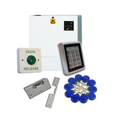 Proximity RFID Keypad Access Control Door Entry Kit with Fobs PSU & Lock Release