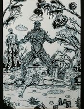 "Original Comic Art ""The Grief Of Swamp Thing"" By Chris Hall"