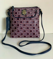 NEW! TOMMY HILFIGER NAVY BLUE PINK RED CROSSBODY SLING MESSENGER BAG PURSE $69