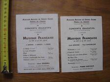 PROGRAMME Theatre Music Hall CHATELET musique francaise concerts educatifs