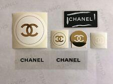 7x Chanel Sticker/ Chanel Logo Sticker, versch. Größen, sehr selten