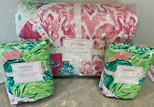 Pottery Barn Kids Lilly Pulitzer party patchwork FULL QUEEN quilt 2 shams