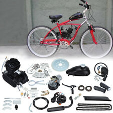 Black 50cc 2 Stroke Petrol Gas Engine Motor Kit For Cycle Motorized Bike Bicycle