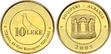 Albania Coin 10 Leke, 2005. 85-year capital Tirana 1920-2005. UNC