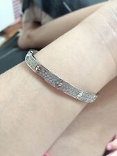 Cartier Love Bangle Paved Diamond 18karat Solid Gold Complete Inclusion