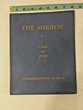 Vintage 1938 Mirror Punxsutawney High School Yearbook - Punxsutawney, PA