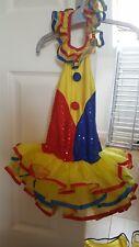 childs clown tutu fancy dress costume