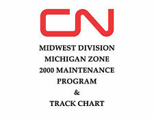 Canadian National Midwest Division Michigan Track Chart 2000 Diagram Profile