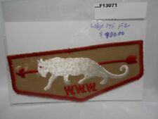 WHITE PANTHER LODGE 345 F2 PATCH MINT PLASTIC GLARE F13071