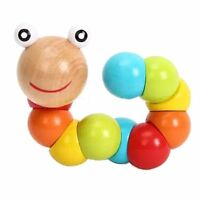 DIY Wooden Infant Children Baby Early Insect Toy Educational Twist Caterpillar