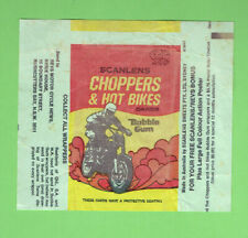 #D291.   1974   SCANLENS  CHOPPER & HOT BIKES WAX WRAPPER