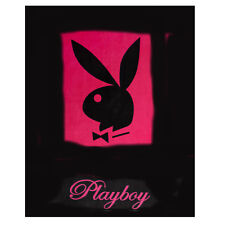 Quality Playboy Blanket Microfibre Fleece Blanket Bunny Coloured 125x 50 cm New