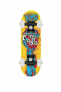 "Xootz Skateboard - Mini  17"" - Yellow Zombie Hand - Small Board"