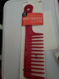 "Donna Rake Handle Comb 10"" Pink"