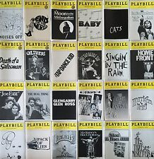 Random Lot of 24 PLAYBILLS from Classic BROADWAY Shows - 1983 to 1985