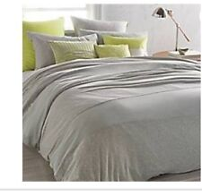 Dkny Fraction Euro Pillow Sham in Heathered Grey