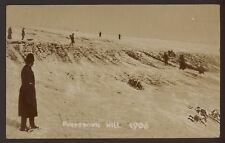 Hampshire. Portsmouth. Portsdown Hill. Tobogganing in the Snow.1906 R.P Postcard