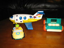 FISHER-PRICE AIRPLANE & MATTEL POLICE CAR & TRUCK, LITTLE PEOPLE