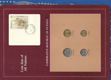 Coin Sets of All Nations Guyana w/card 1980-1989 25 Cents 1989 UNC Orchid AP1691