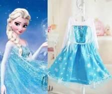 Polyester Party Elsa Dresses for Girls