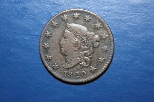 1820 VF Small Date Coronet Head Large Cent