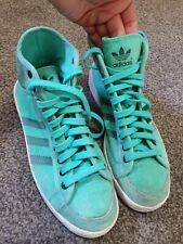 Rare Adidas Samples (Hookshot/jabbar?)Hi-Tops In Mint Green Size 8.5 UK (2010)
