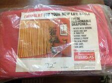 "Vtg 60s Pink Curtains New Fiberglas Cloth Fabric 44x72""L Pleated Drape Rose Pair"