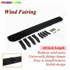 Low-Profile Plastic Rack Roof Wind Fairing WindShield Deflector Kit 40 inches
