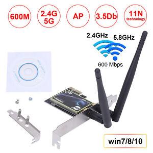 600Mbit PCI-E Wireless WLAN Karte PCI Express Dual Band 2,4GHz/5,0GHz