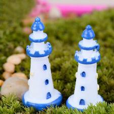 Miniatures Lighthouse 2pcs Fairy Garden Moss Terrarium Decor Crafts Bonsai Lawn