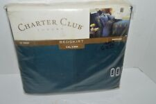 NEW Collection By Charter Club Sapphire Solid Bed Skirt Size Cal King