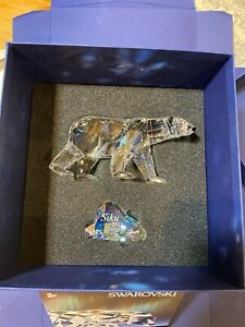 NIB Swarovski Crystal 2011 Limited Edition Siku Bear with Papers