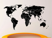 World Map Wall Decal Vinyl Sticker Globe Interior Housewares Art Decor (1m2ap)