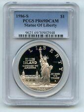 1986 S $1 Statue of Liberty Silver Commemorative Dollar PCGS PR69DCAM