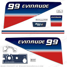 Evinrude 9.9hp Outboard Decal Kit - 1980