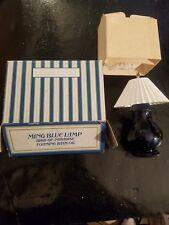 Avon Ming Blue Lamp Field Flowers Foaming Bath Oil Full Bottle With Box