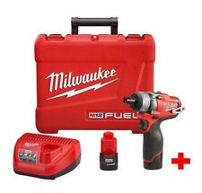 Milwaukee M12 FUEL 12-Volt Lithium-Ion Brushless Cordless Screwdriver Kit 2 BAT