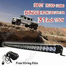 SLIM 32Inch 150W CREE Single Row Led Light bar Spot FOR Off-road JEEP Truck BOAT