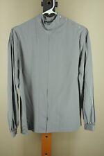 Vintage Luisa Nicole Women's Gray Polyester 50's Blouse Shirt Size 10