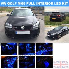 VW GOLF MK5 Interior TDI TSI GT UPGRADE 2003-2008 BLUE LED BULBS LIGHT KIT