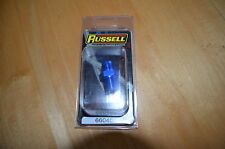 """Russell 660460 Adapter 6AN Male to 3/8"""" NPT Male Straight Blue"""