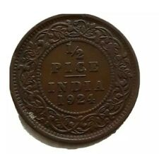 CIRCULATED 1924 1/2 PICE INDIA COIN