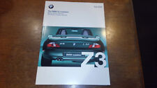 2000 BMW Z3 SALES  BROCHURE INCL ///M 49 PAGES  E36/7 Roadster 2.3 2.8 MRoadster