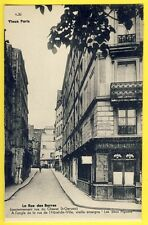"""cpa Rare 75 PARIS Rue de la BARRE et de l'HÔTEL de VILLE Café """"LES DEUX PIGEONS"""""""